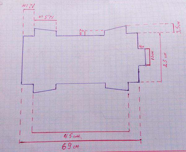 разборный мангал чертежи размеры