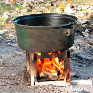 печка щепочница складная