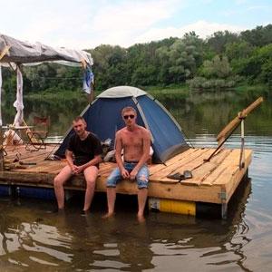 Как построить плот для сплава по реке своими руками фото 879