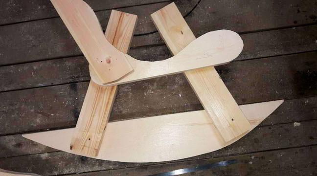сделать кресло качалку