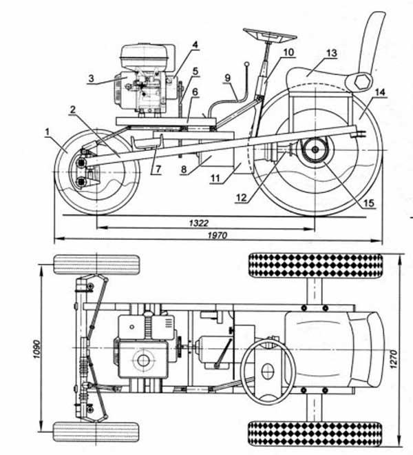 чертежи трактора