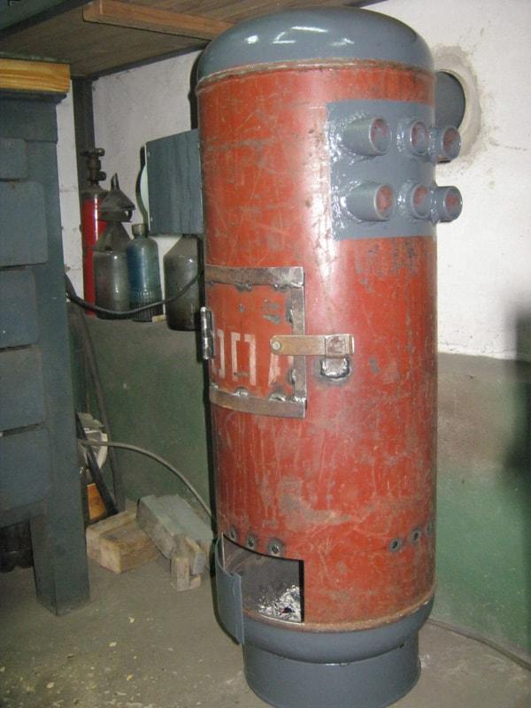 печь из газового баллона с теплообменником