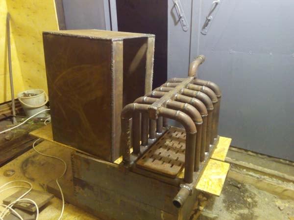 печь с водяным контуром в гараж