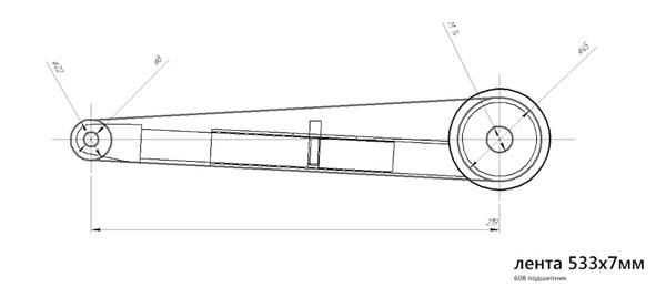 чертежи электронапильник из болгарки