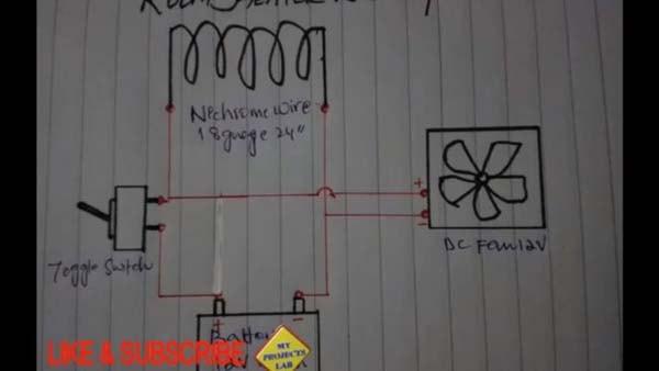 схема обогревателя 12 вольт