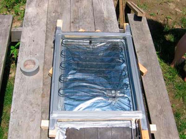 солнечный водонагреватель самодельный