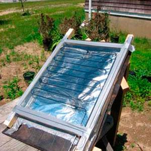 солнечный коллектор самоделка