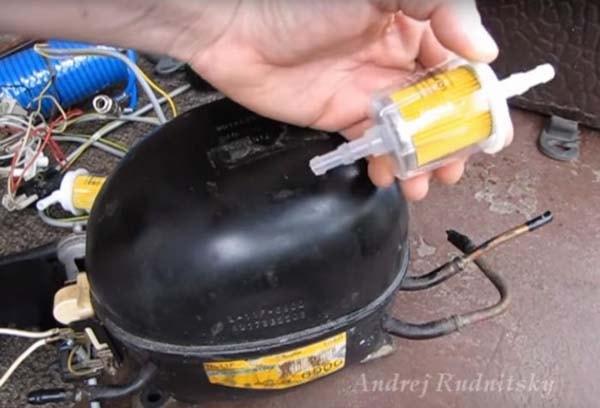Компрессор из холодильника для накачки шин
