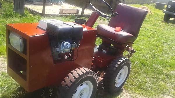 самодельный мини трактор подробно