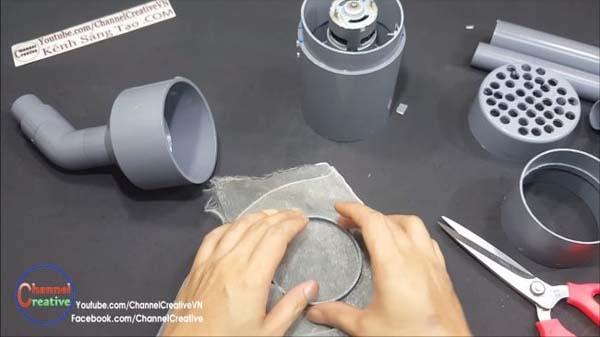 самодельный фильтр для пылесоса