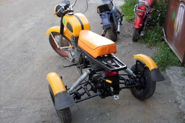 делаем трайк из мотоцикла
