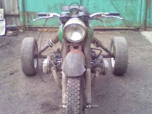 трицикл сделанный из мотоцикла
