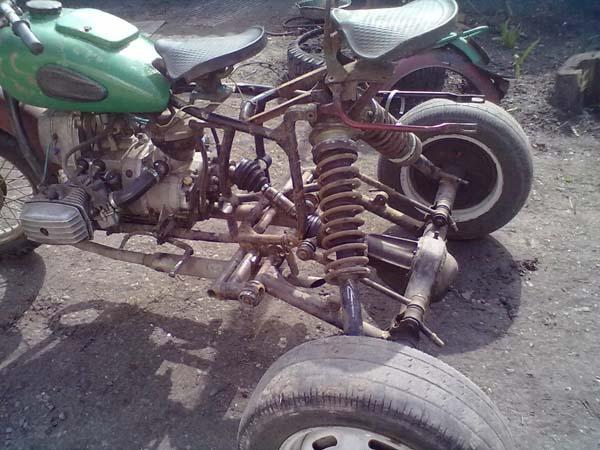 трицикл из мотоцикла мт
