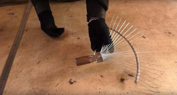 как сделать веерные грабли