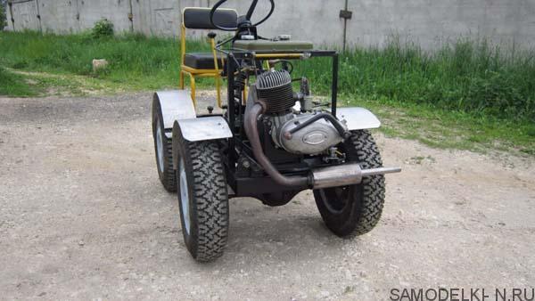 минитрактор с двигателем мотоцикла