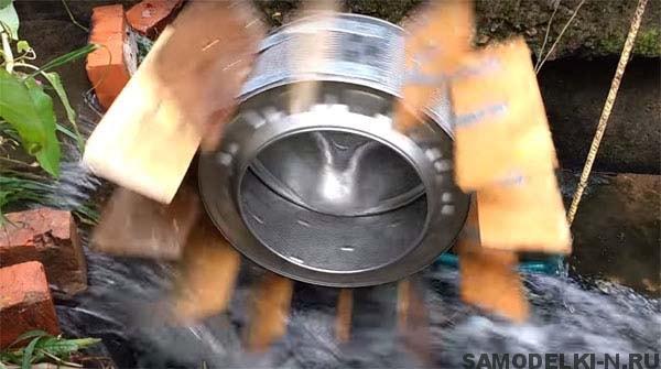 Гидроэлектростанция из стиральной машины