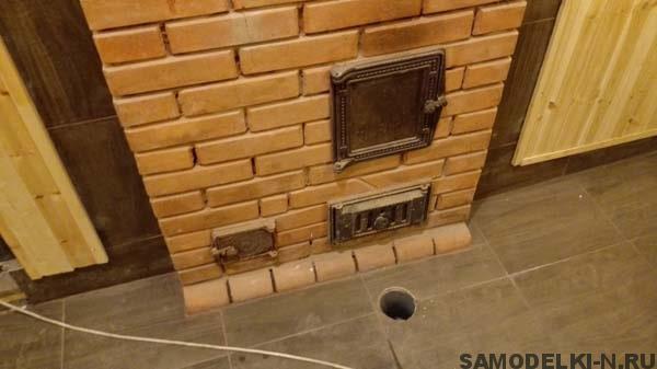 Кирпичная печь для бани самодельная