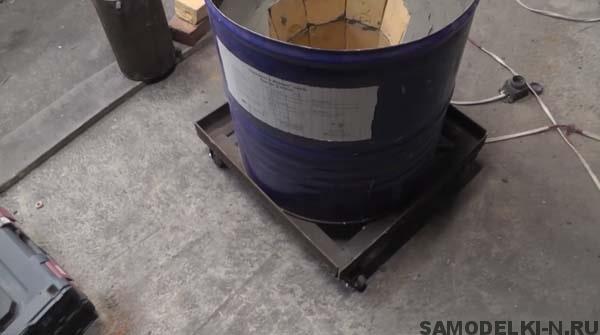 самодельная печь для плавки алюминия