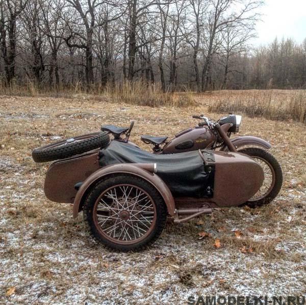 Восстановленный мотоцикл Урал М-62