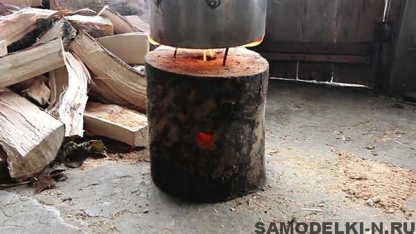 печь из полена