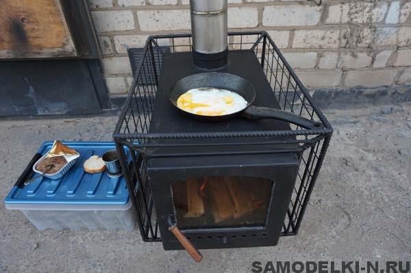 самодельная печь для походной бани