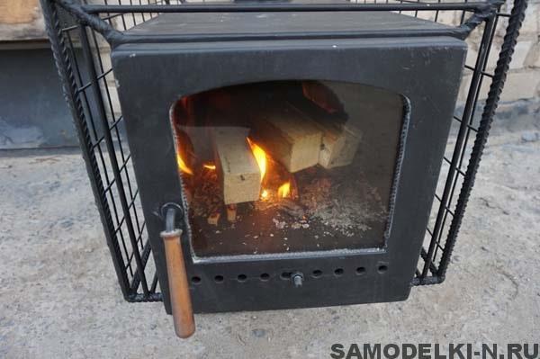 походная баня печь