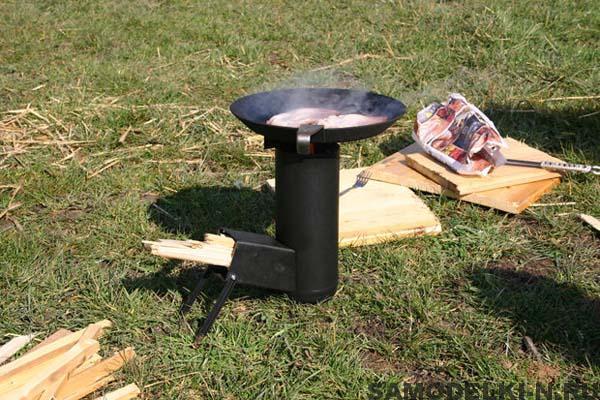 самодельная печка походная