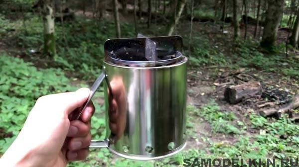 Походная печь своими руками из кружек