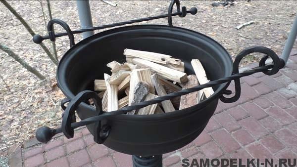 самодельный мангал из колёсных дисков