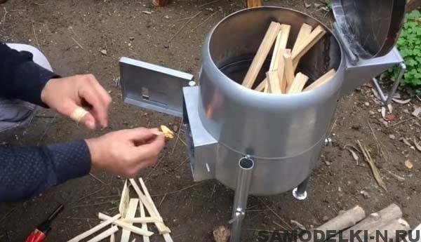походная печка самодельная