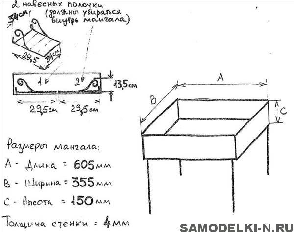 чертежи мангала