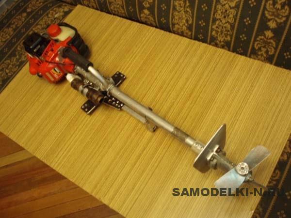 Лодочный мотор из триммера