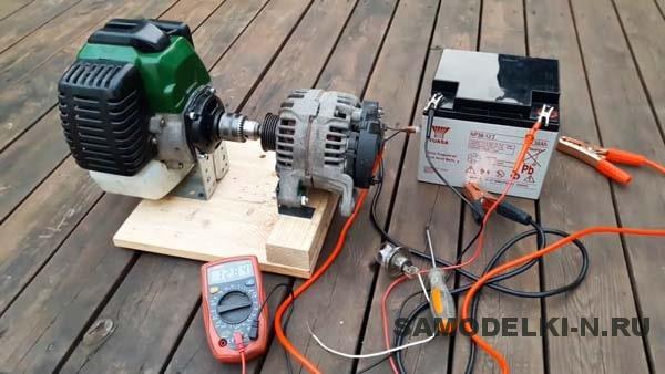 Самодельный бензиновый генератор