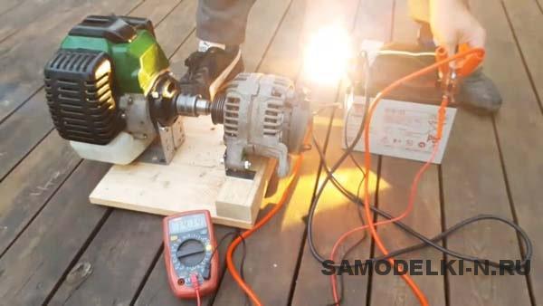 Самодельный генератор из триммера